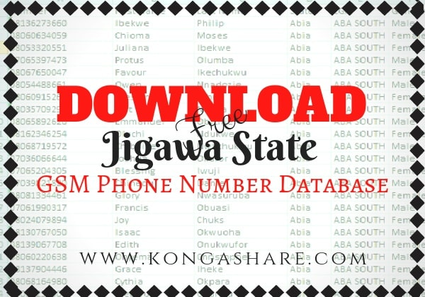 Download Free Jigawa State GSM Phone Number Database