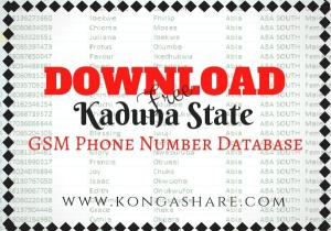Download Free Kaduna State GSM Phone Number Database