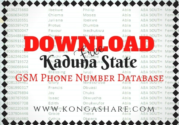 Download Free Kaduna State GSM Phone Number Database