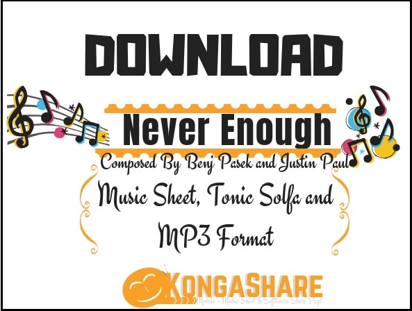 Download Never Enough Sheet Music by Benj Pasek and Justin Paul_ kongashare.com..m-min