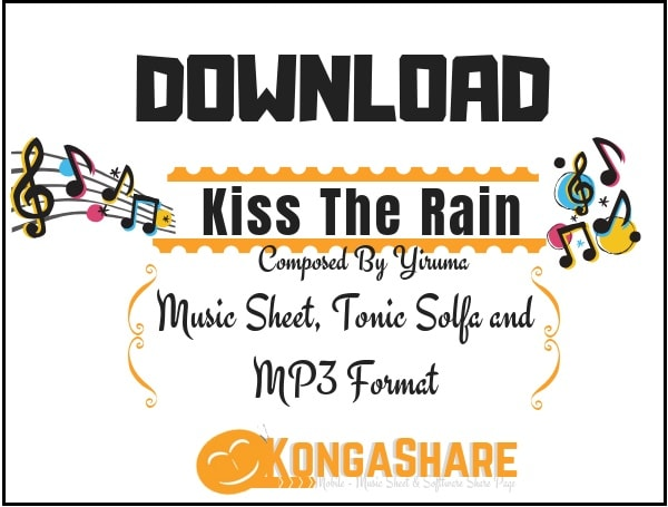 Kiss The Rain sheet music (by Yiruma) in PDF and MP3