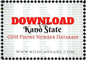 Download Free Kano State GSM Phone Number Database_ kongashare.com_m-min