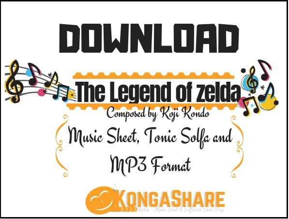 The Legend of zelda sheet music (koji kondo) in pdf and mp3