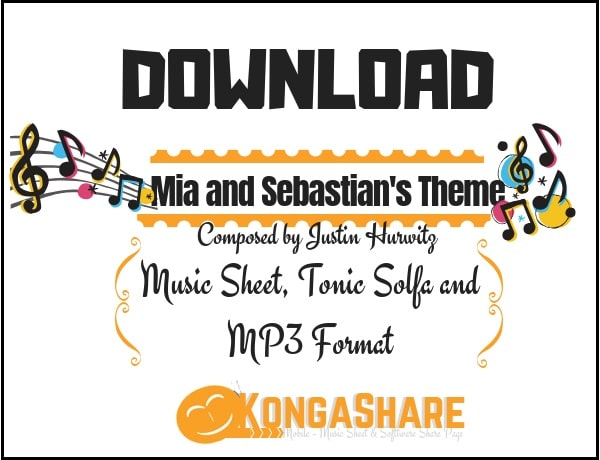 Download mia and sebastian's theme sheet music by justin hurwitz in PDF and MP3_ kongashare.com_m-min