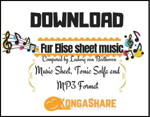 Fur Elise sheet music - Ludwig van Beethoven music score
