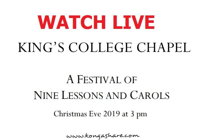 nine lessons and carols 2019