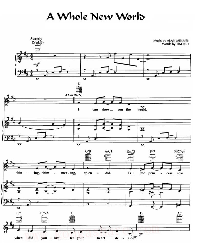 Download A Whole New World Sheet Music_kongashare.com_mmm