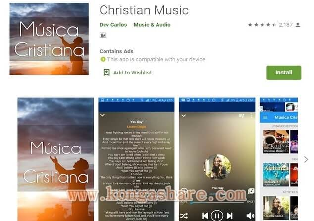 Free Christian Music Apps on Google Play in 2020 - Christian Music App Picture_kongashare.com_mmn