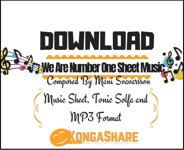 Download We Are Number One sheet music - Lazy Town in PDF & MP3 by Máni Svavarsson_kongashare.com_mn