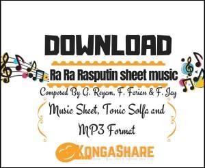 Download Ra Ra Rasputin sheet music_kongashare.com_mm