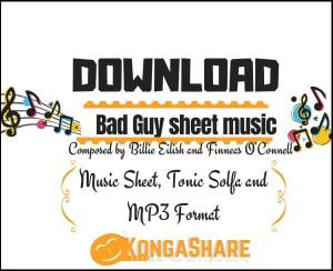 Bad Guy sheet music_kongashare.com_score