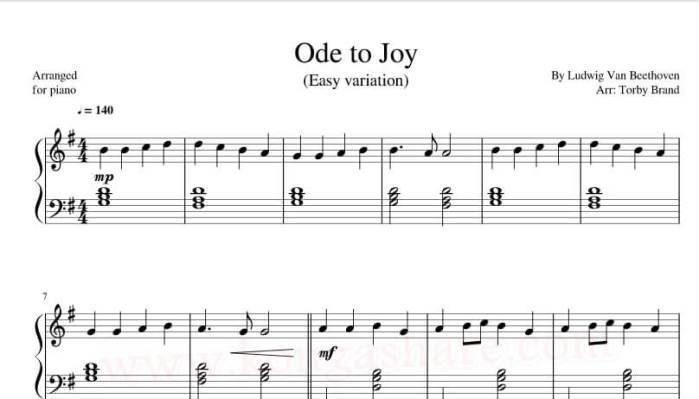 Ode to Joy sheet music_kongashare.com_score