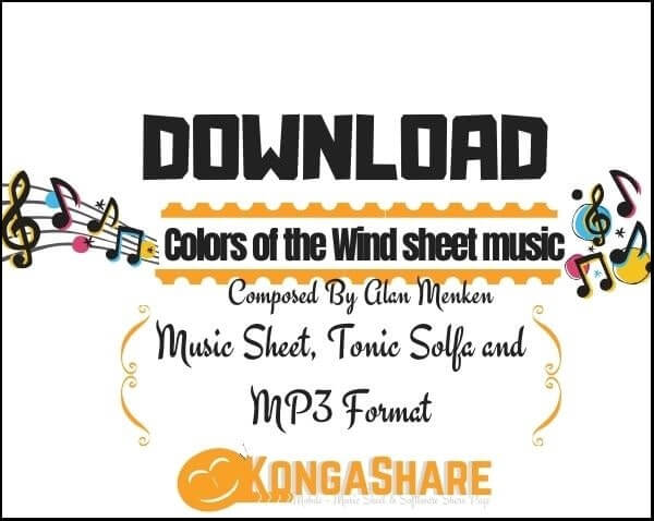 Colors of the Wind piano sheet music_kongashare.com_mb