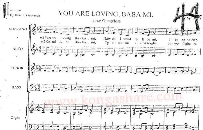 You Are Loving Babami Sheet Music_kongashare.com_m