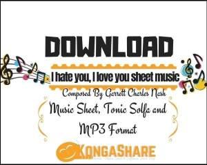 I hate you I love you piano sheet music_kongashare.com_mn