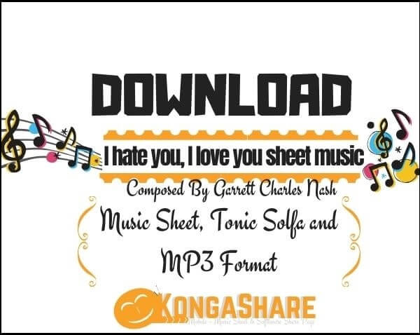 I hate you I love you piano sheet music_kongashare.com_mn