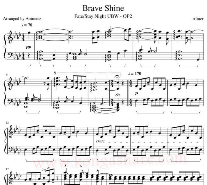 brave shine sheet music_kongashare.com_mn