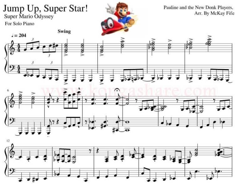 Jump Up Superstar lyrics sheet music_kongashare.com_zx