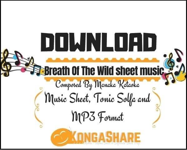 Breath Of The Wild Piano sheet music