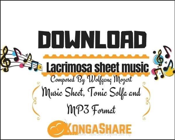 Requiem - Lacrimosa piano sheet music_kongashare.com_mx