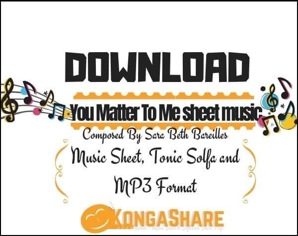 You Matter To Me sheet music_kongashare.com_me