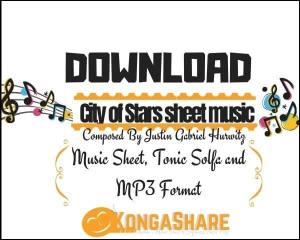 Download City of Stars piano sheet music in PDF/MIDI - Justin Hurwitz