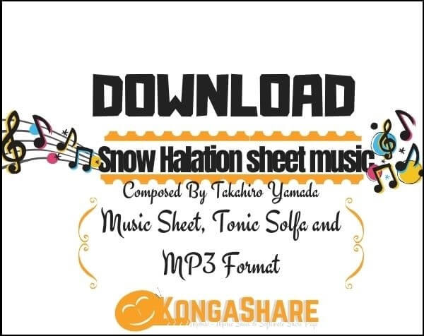 download Snow Halation Piano sheet music pdf midi_kongashare.com_mw