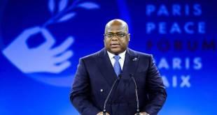 Fatshi, President de la RDC, au Sommet de la Paix a Paris.