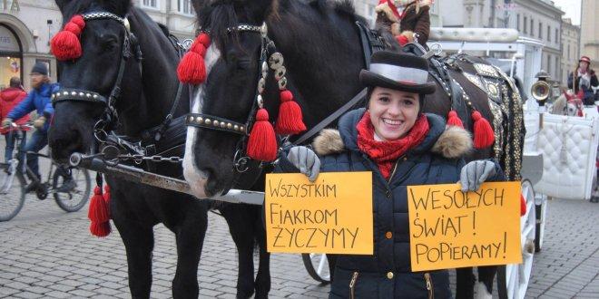 Życzenia od krakowskich fiakrów
