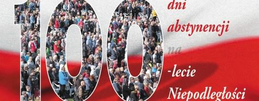 Apel o trzeźwość na 100 lecie Niepodległości.