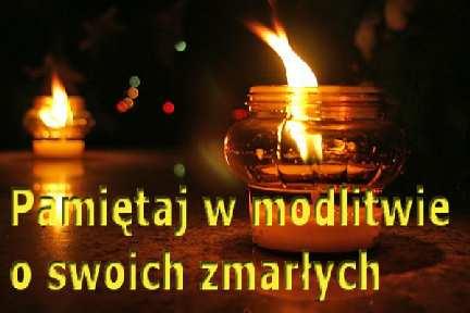 Porządek Mszy św. 1 oraz 2 listopada.