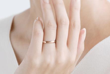 K18PGの結婚指輪