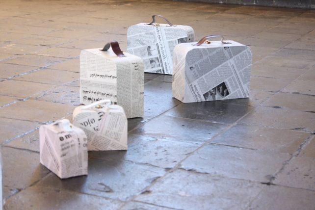 1. Miriam L'Herminez, Object x 9 (mixed media), onderdeel installatie (detail) (Medium)