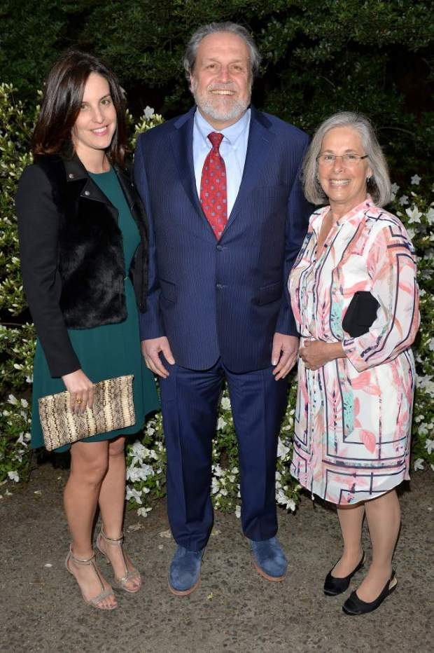 Allison Charney, Dr. Dennis Charney and his wife Andrea Charney attend the Mount Sinai Health System 2016 Crystal Party May 5, 2016.jpg