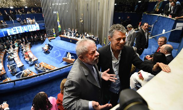 Ex-president Ignacio Lula at Monday's impeachment hearing1