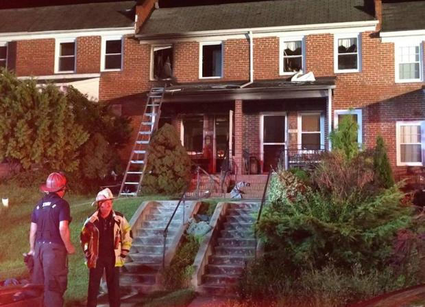 The Baltimore home caught on fire while Erika Poremski left briefly to go to her car1.jpg