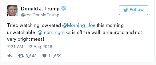 Trump vs Morning Joe tweet1