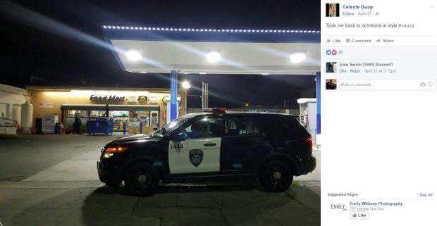Celeste Guap twitted her escapades with Bay area cops. One took her back home in his squad car.jpg