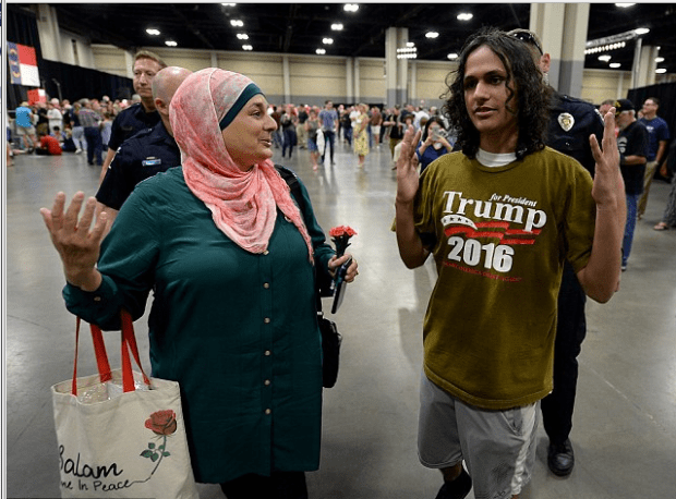rose-hamid-and-18-year-old-jake-anantha-being-escorted-from-trump-rally-in-aug-this-year5