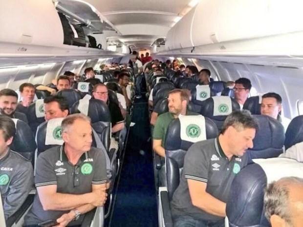 Chapecoense Real football team before the doomed flight took off.jpg