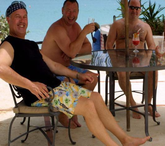 Days in the sun: Convicted fraudsters Bancroft with Mills and Scourfield on vacation in Barbados.jpg