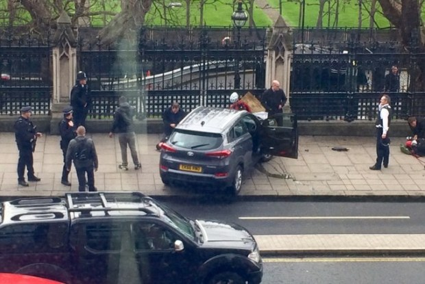 Armed Police have opened fire and shot a person outside the Houses of Parliament1