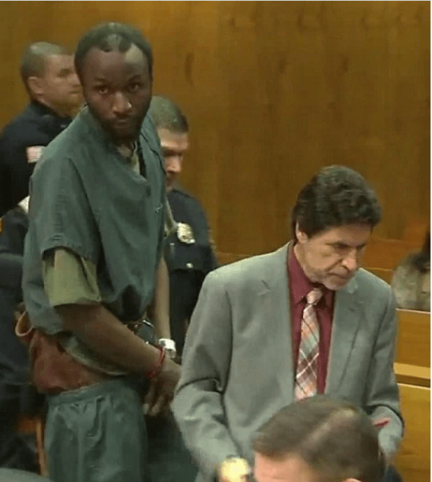 Chaos erupted in the court room on Friday as Gerry Thomas one of the two men accused in a murder involving a RHONJ star's car made his court appearance.png