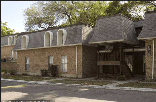 Clark held YL captive in a one-room apartment in Jacksonville, Florida (pictured) and was forced to sleep on the dining room table3