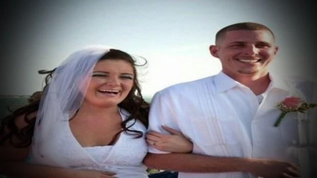 Matthew Notebaert and his wife, Amanda Notebaertat their wedding.jpg