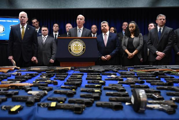 NYPD busts up Virginia gun pipeline as cops seize 217 guns in Brooklyn, nab 22 suspects