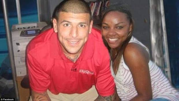 Hernandez and girlfriend Shanaya Jenkins back in 2011 after he was drafted by the Patriots .jpg