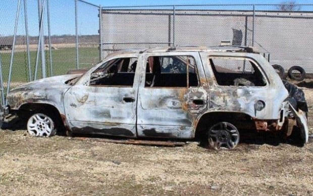 Joseph Jakubowski torched his own car near the robbery scene.jpg