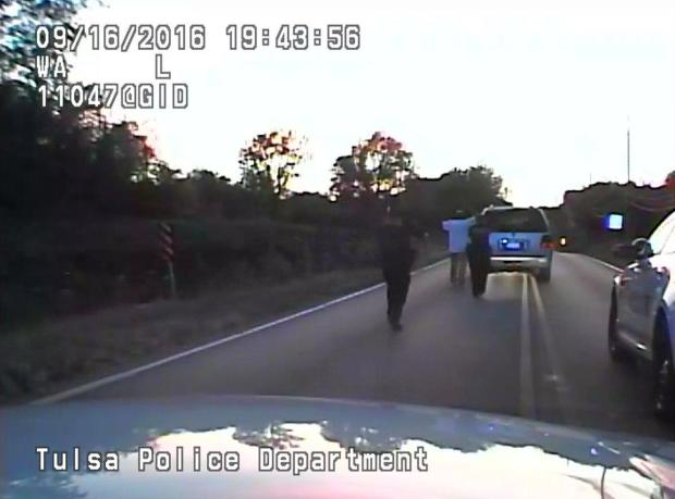 Police video shows Terence Crutcher being pursued by officers as he walks towards an SUV in Tulsa1.jpg
