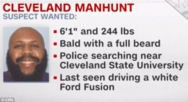 Police wanted person flyer for Steve Stephens3